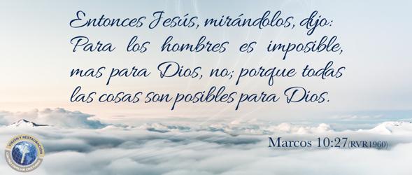 Para Dios no hay imposibles-Bienvenidos!