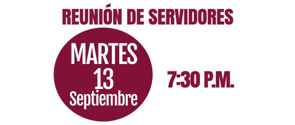 REUNIÓN DE SERVIDORES